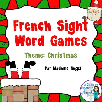 Sight Word Games in French with a Christmas theme