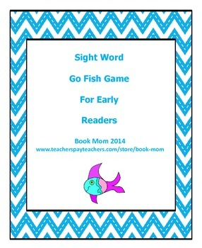 Sight Word Go Fish Game for Early Readers using Jan Richar