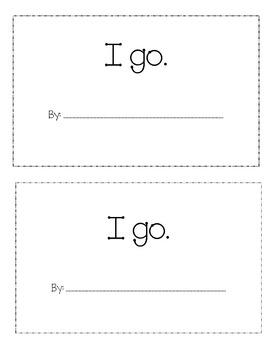Sight Word 'Go' book