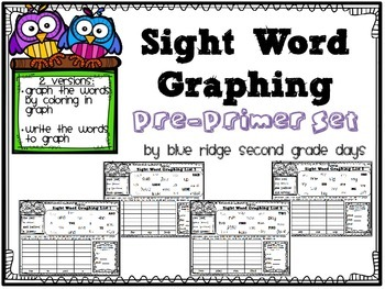 Sight Word Graphing Pre-Primer Level