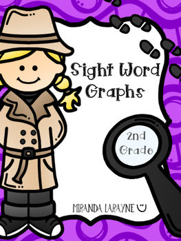Sight Word Graphs - 2nd Grade Dolch Words