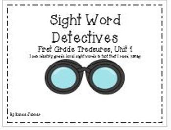 Sight Word Graphs: First Grade Treasures Unit 1
