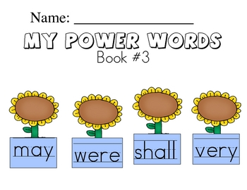 Sight Word Handwriting Workbook Book 3