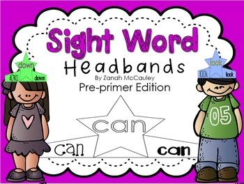 Sight Word Headbands Bundle (Pre-Primer, Primer, and 1st Grade)