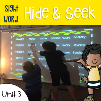 Sight Word Games of Hide and Seek for Reading Wonders 1st
