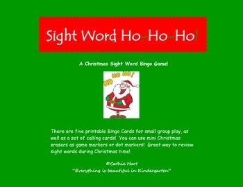 Sight Word Ho-Ho-Ho!    A Freebie