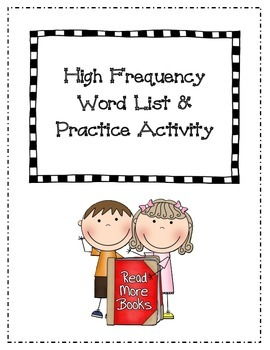 Sight Word Home Activities