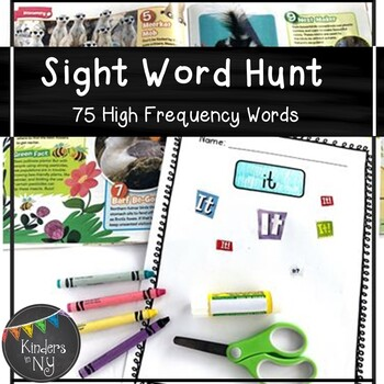 Sight Word Hunt (25 High-Frequency Words) K, First Grade