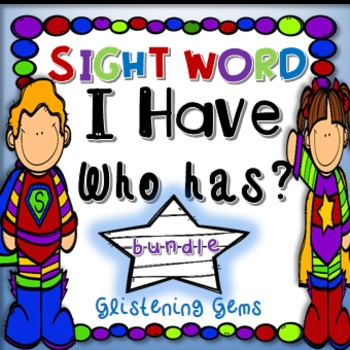 I Have Who Has Sight Word Games, Dolch Pre-Primer, Primer