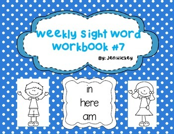 "Sight Word Interactive Booklet ""in here am"""