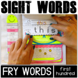 Sight Word Activities: Interactive Notebook BUNDLE (Fry's 1-100)