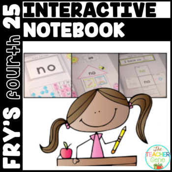 Sight Word Interactive Notebook Fry's Fourth 25