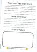 Sight Word Journal - Book 1