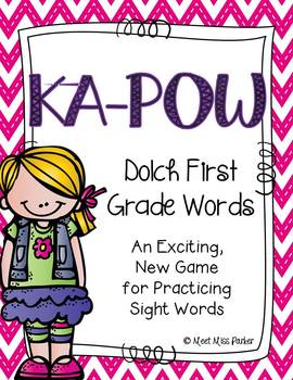 Sight Word Kapow - FIRST GRADE - Learning Sight Words in a