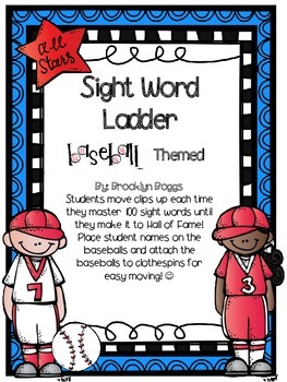 Sight Word Ladder - Baseball Themed