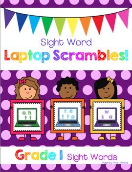 Sight Word Laptop Scrambles - Grade 1 Edition