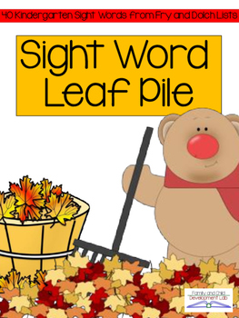 #TrickorTreat Sight Word Activity: Leaf Pile Game