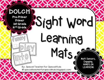Sight Word Learning Mats **DOLCH**