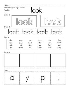 Sight Word- Look