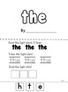 """Sight Word Make and Take Five page book - Sight word: """"the"""""""
