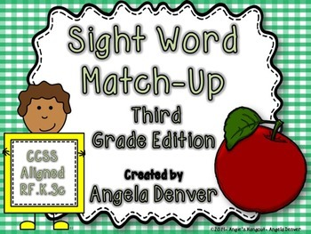 Sight Word Match-Up Third Grade Edition