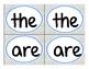 Sight Word Matching Game!