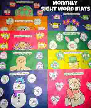 Sight Word Mats (Monthly: September-May)