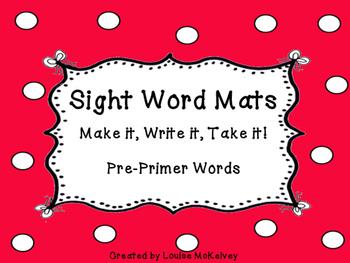 Sight Word Play Doh Mats  - No Prep