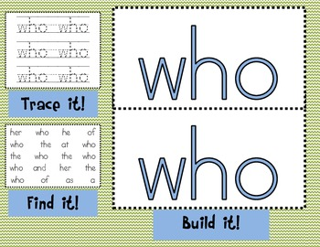 Sight Word Mats for Fry's List of Sight Words SET 4 {76-100}