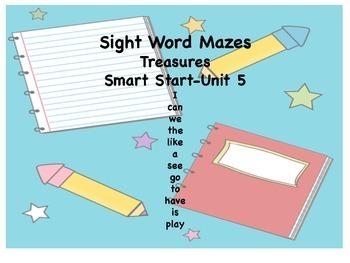 Kindergarten Sight Words - Treasures Reading Serires