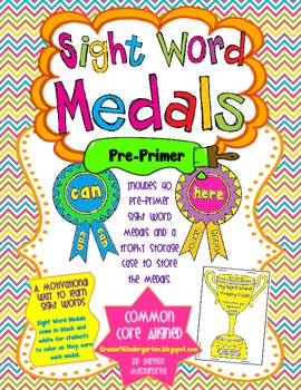 Sight Word Medals Pre-Primer Edition
