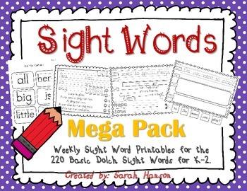 Sight Word Mega Pack (35 Weeks of Sight Word Instruction)