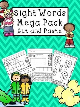 Sight Word Mega Pack - No PREP - Cut and Paste