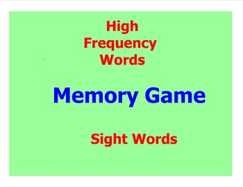 Sight Word Memory Game On Interactive Whiteboard