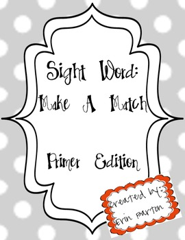Sight Word Memory - Primer Words