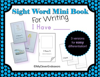 Sight Word Mini Book - I Have
