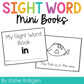 Sight Word Mini Book:  In