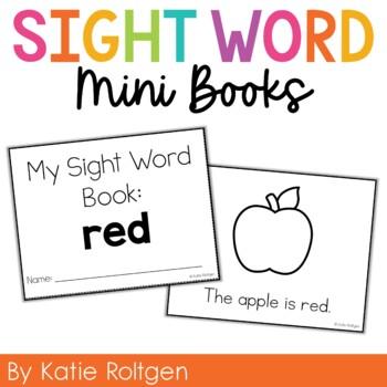 Sight Word Mini Book:  Red