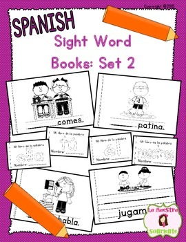 Sight Word Mini Books: Set 2 (Spanish)