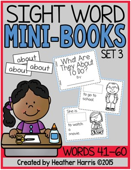 Sight Word Mini Books: Set 3