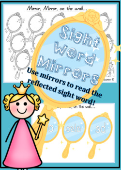 Sight Word Mirrors Set of 98 BASED ON DOLCH WORDS