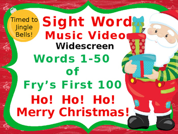 Sight Word Music Video, Fry 1-50 of Fry's First 100, Chris