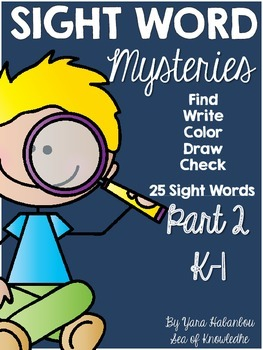 Sight Word Mysteries {Part 2}