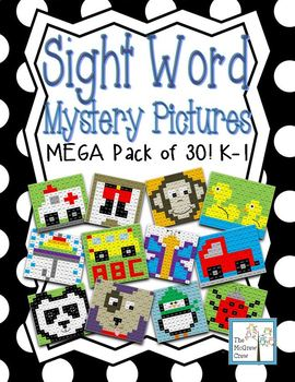 Sight Word Mystery Pictures MEGA PACK SET of 30