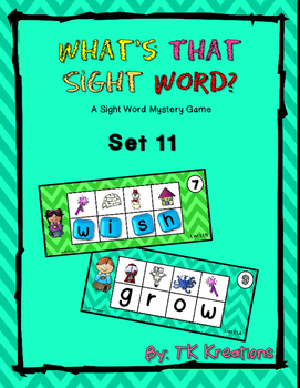 Sight Word Mystery  Set 11 - What's That Sight Word?