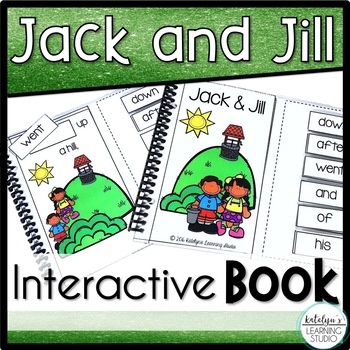 Sight Word Nursery Rhyme Interactive Book- Jack and Jill