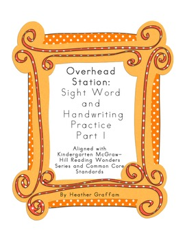 Sight Word Overhead Station (Block Letters) Part 1