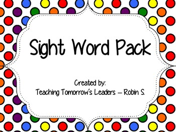 Sight Word Pack