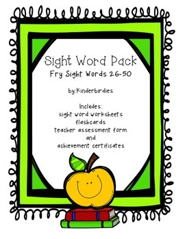 Sight Word Pack - Fry 26-50