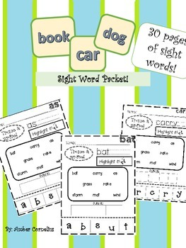 Sight Word Packet!
